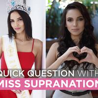 Quick Question with Miss Supranational 2018 Valeria Vazquez