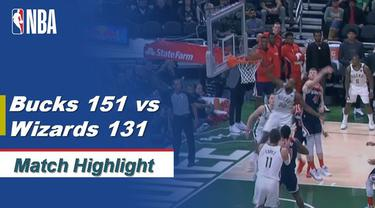 Berita Video Highlights NBA Milwaukee Bucks Vs Washington Wizards 151-131