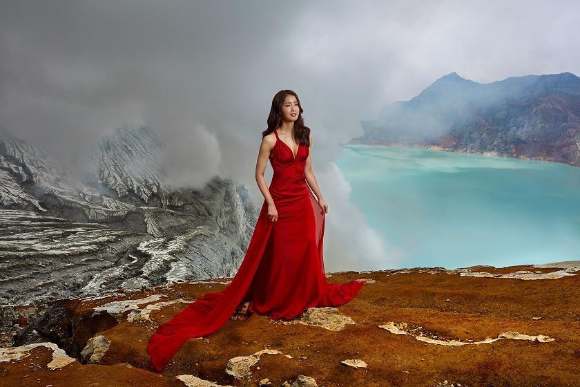 Berikut kisah aktris Korea yang menjelah ekstrem di Gunung Ijen dengan menggunakan perawatan kulit dari SK-II.