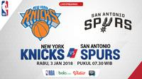 Jadwal NBA, San Antonio Spurs Vs New York Knicks. (Bola.com/Dody Iryawan)