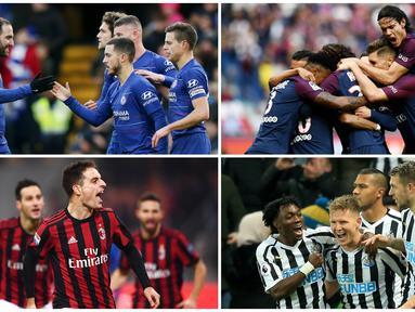 Chelsea dan AC Milan menduduki posisi teratas sebagai klub terboros pada bursa transfer musim dingin kali ini. Berikut ini lima klub yang mengeluarkan banyak uang pada bursa transfer Januari 2019. (Foto Kolase AP dan AFP)