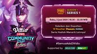 Streaming Vidio Community Cup Ladies Season 1 : PUBGM Series 1. (Sumber : dok. vidio.com)