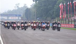Ribuan pengguna motor Honda CBR memadati Sirkuit Internasional Sentul, Bogor, Jawa Barat, Minggu (9/12/2018) dalam Indonesia CBR Race Day (ICE day)..