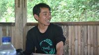 Isrodin, Kepala MTs Pakis Gununglurah Kecamatan Cilongok, Banyumas yang menerapkan biaya daftar ulang berupa hasil bumi. (Foto: Liputan6.com/Muhamad Ridlo)