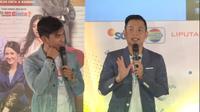 Ernest Prakasa turut mengisi talkshow EGTC 2018 di Graha Sanusi Hardjadinata, Kota Bandung, Kamis (15/12/2018). (Huyogo Simbolon)