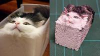 Seniman Jepang Ini Buat Patung yang Terinspirasi dari Foto Unik Kucing (sumber: Boredpanda)