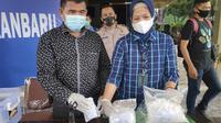Barang bukti narkoba jenis sabu sitaan Polresta Pekanbaru. (Liputan6.com/M Syukur)