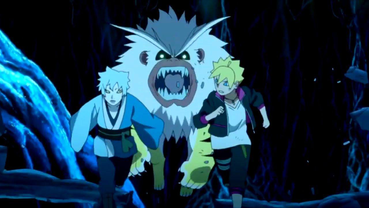 Boruto dan Mitsuki di salah satu episode anime Boruto. (Pierrot)