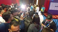 Lindwsell Kwok ketika melayani pertanyaan dari para awak media setelah meraih medali emas di Asian Games 2018.