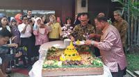Perayaan ulang tahun ke- 52 Kementerian Koordinator Bidang Perekonomian. (Wilfridus Setu Embu/Liputan6.com)