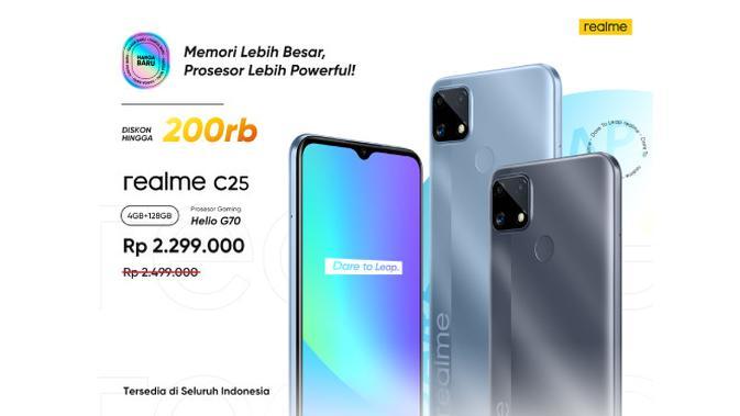 Realme C25. Dok: Realme Indonesia