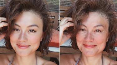 Challenge accepted! Agnes Monica menjadi sorotan karena dirinya masih terlihat cantik meski sudah dua tua nih! (Liputan6.com/IG/agnezmo)