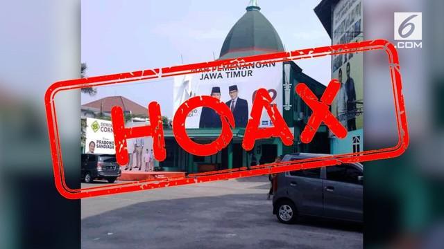 Beredar kabar bahwa Museum NU di Surabaya dijadikan posko pemenangan Prabowo-Sandi.