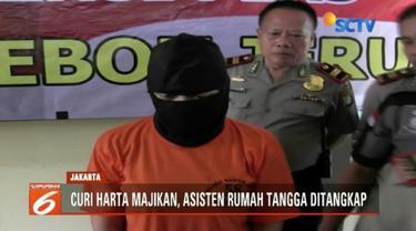 Seorang asisten rumah tangga kedapatan mencuri harta dan uang majikannya di Kebon Jeruk, Jakarta Barat, dengan total senilai lebih dari Rp 100 juta.