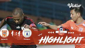Laga lanjutan Shopee Liga 1, Borneo FC VS Persipura Jayapura berakhir imbang dengan skor 1-1