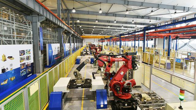 Sebuah pabrik manufaktur robot Siasun. (Xinhua/Siasun)