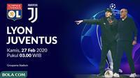 Liga Champions - Olympique Lyon Vs Juventus (Bola.com/Adreanus Titus)