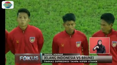 Untuk lolos ke semifinal, Indonesia wajib menang dengan mencetak banyak gol saat menghadapi Brunei Darussalam.