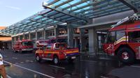 Suasana Bandara Ngurah Rai Saat Kebakaran (Liputan6.com/Dewi Divianta)