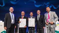 Penghargaan diterima BPJSTK dalam pertemuan institusi jaminan sosial sedunia (World Social Security Forum/WSSF) di Brussels, Belgia.