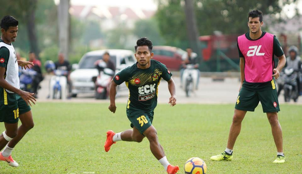 Andik Vermansah dalam sesi latihan Kedah FA di Stadion Sultan Abdul Halim, Senin (19/2/2018). (Bola.com/Dok. Facebook Kedah FA)