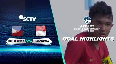 Berita video gol-gol yang tercipta saat Timnas Indonesia U-15 mengalahkan Filipina U-15 4-0 di Piala AFF U-15 2019, Jumat (2/8/2019).
