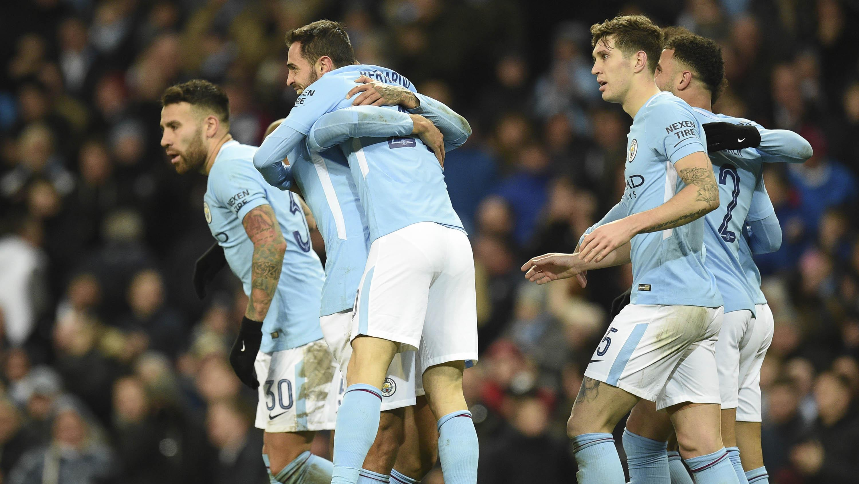 Manchester City ditantang klub Championship di semifinal Piala Liga Inggris. (AFP/Oli Scarff)