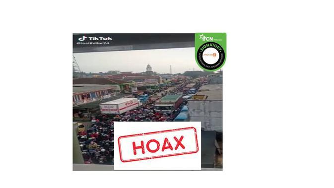 Cek Fakta video kemacetan saat mudik