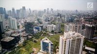 Pemandangan deretan gedung-gedung pencakar langit di Jakarta, Jumat (29/9). Pemerintah melalui Menteri Keuangan Sri Mulyani meyakinkan target pertumbuhan ekonomi tahun 2018 sebesar 5,4 persen tetap realistis. (Liputan6.com/Faizal Fanani)