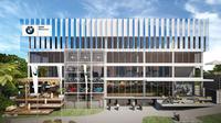 Flagship Store memiliki luas tanah 1700 m2 dan luas bangunan 4000 m2.