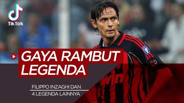 Filippo Inzaghi dan 4 legenda sepak bola yang tidak pernah ganti gaya rambut.