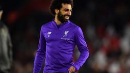 1. Mohammed Salah - Salah menjadi bintang masa depan Liverpool sekarang dan di saat yang akan datang. Pemain 25 tahun tersebut mencetak 50 gol dari 69 laga yang dilakoni. (AFP/Glyn Kirk)