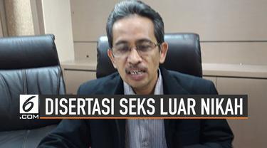 Disertasi milik Abdul Aziz Mahasiswa doktoral UIN Sunan Kalijaga tuai kontroversi. Ia berpendapat seks di luar nikah dalam batasan tertentu diperbolehkan dalam Islam.