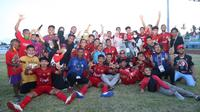 Para pemain PON Aceh yang sukses merebut medali perak di PON XX Papua. Lima di antaranya direkrut Persiraja untuk putaran kedua BRI Liga 1 2021. (Bola.com/Gatot Susetyo)