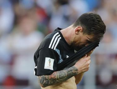 FOTO: Beragam Ekspresi Lionel Messi Ketika Argentina Gagal Menang