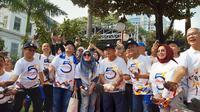 Menko Perekonomian Darmin Nasution merayakan hari jadi Kementerian Koordinator Bidang Perekonomian yang ke-53 tahun. (Merdeka.com/Yayu Agustini Rahayu)