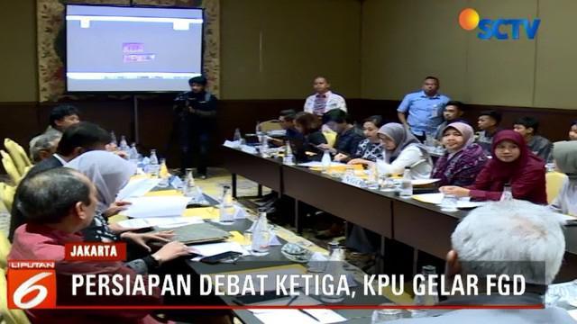Menurut salah satu moderator debat Putri Ayuningtyas, di debat ketiga nanti tidak ada sesi pengambilan undian saat berlangsungnya acara.