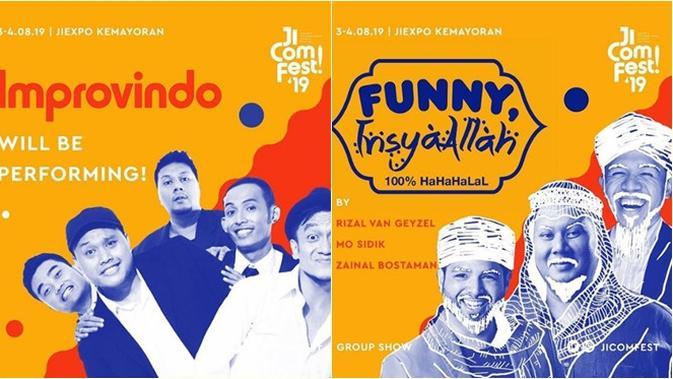 Festival komedi JICOMFEST 2019 akan hadirkan berbagai keseruan dari para komika hebat.