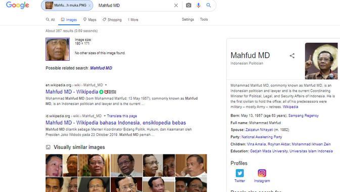 Cek Fakta Liputan6.com menelusuri klaim foto Mahfud Md berambut merah