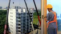 Perusahaan di China mampu membangun apartemen 10 lantai hanya dalam waktu kurang dari 29 jam (dok.YouTube/ BROAD Group)
