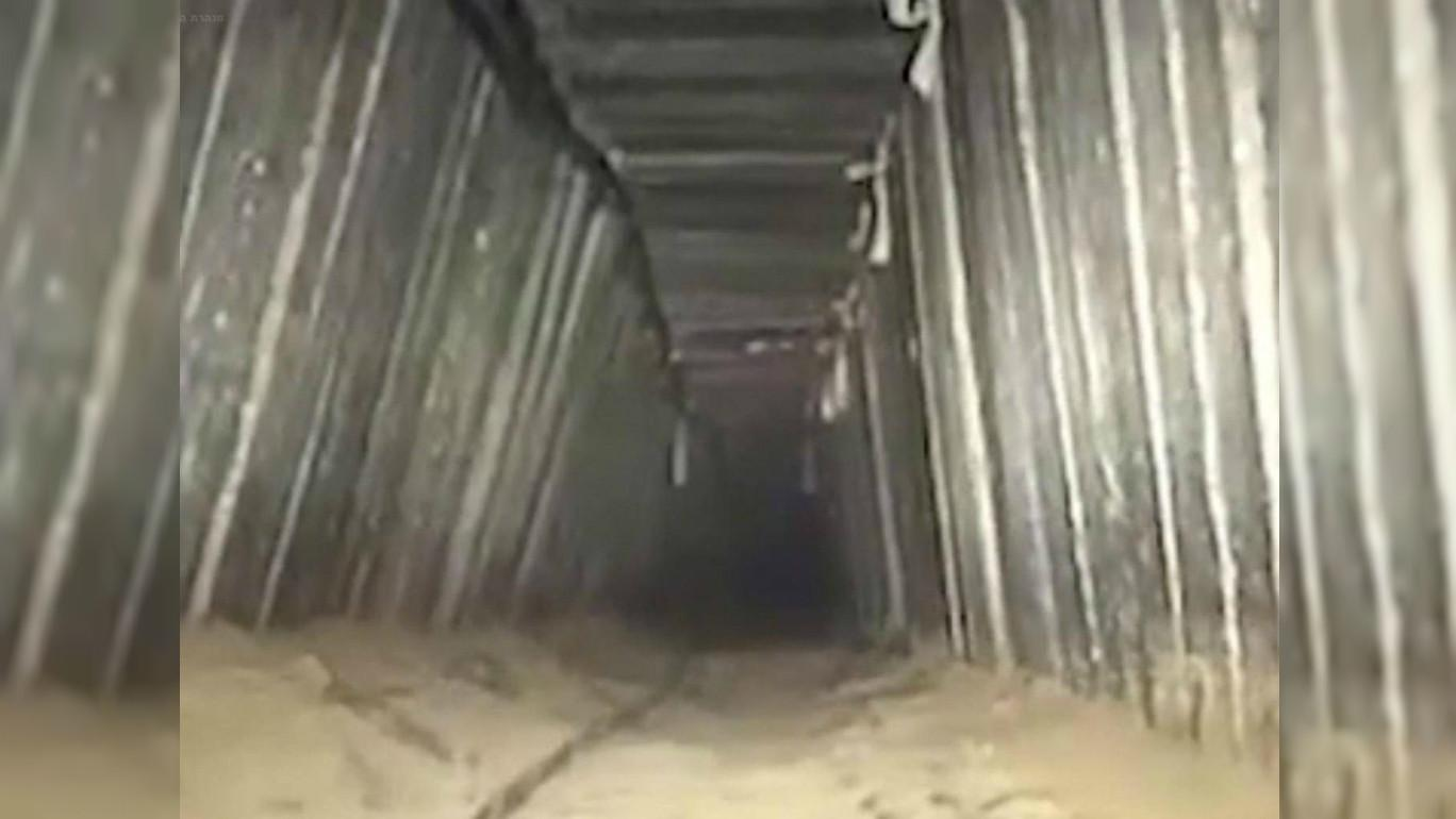 Terowongan bawah tanah Hamas di Gaza Palestina (sumber: Israeli Defense Force)