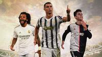 Ilustasi - Marcelo, Cristiano Ronaldo, Paulo Dybala (Bola.com/Adreanus Titus)