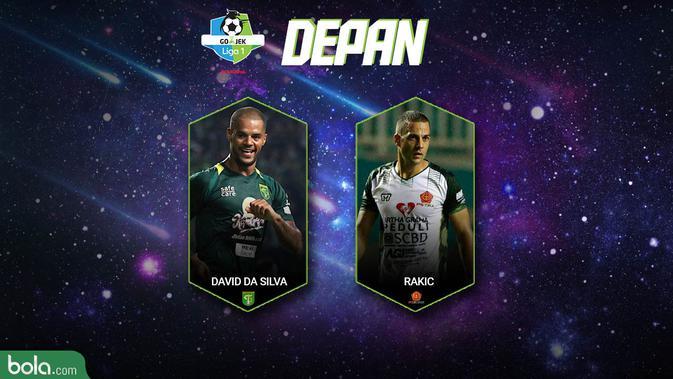 Best XI Liga 1 Depan 2018 (Bola.com/Adreanus Titus)