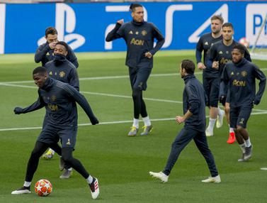 Latihan Barcelona Vs Manchester United