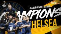 Chelsea juara Liga Europa 2018-2019. (Bola.com/Dody Iryawan)