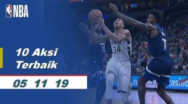 Berita Video 10 Aksi Terbaik 5 November di NBA 2019-2020