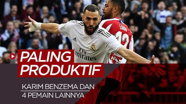 Berita motion grafis 5 pemain paling produktif Real Madrid di era kepelatihan Zinedine Zidane, catatan Karim Benzema hampir samai Cristiano Ronaldo.