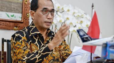 """Menteri Perhubungan (Menhub) Budi Karya Sumadi mengapresiasi Perusahaan Listrik Negara (PLN) yang telah meluncurkan aplikasi """"Charge.In"""".  (Foto: Kemenhub)"""