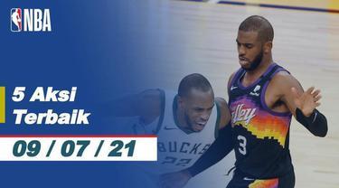 Berita video 5 Aksi Terbaik NBA, tembakan tiga poin bintang Phoenix Suns, Devin Booker.