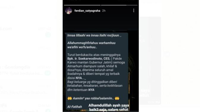 Cek Fakta Liputan6.com menelusuri informasi Pakde Karwo Mantan Gubernu Jatim meninggal dunia